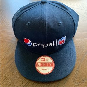 Pepsi NFL Hat Blue Navy SnapBack Truckers Cap